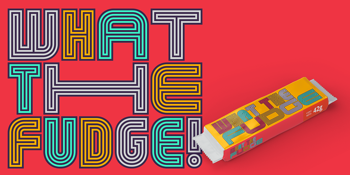 Display font geometric Headline identity linear typography   variable Latin America type