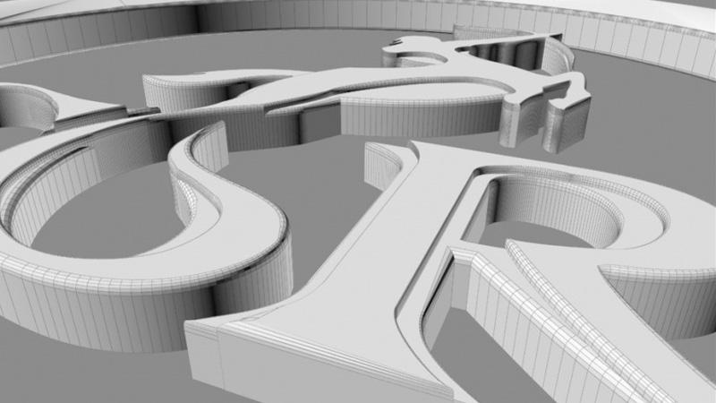 design Web UI 3D print brand logo