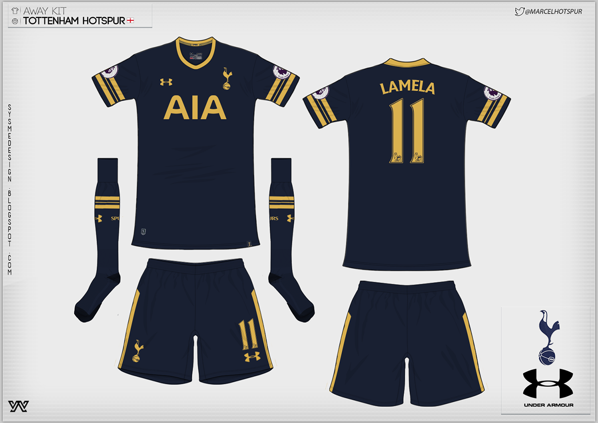 Tottenham Hotspur Spurs Trikot 2016//17 Home Under Armour