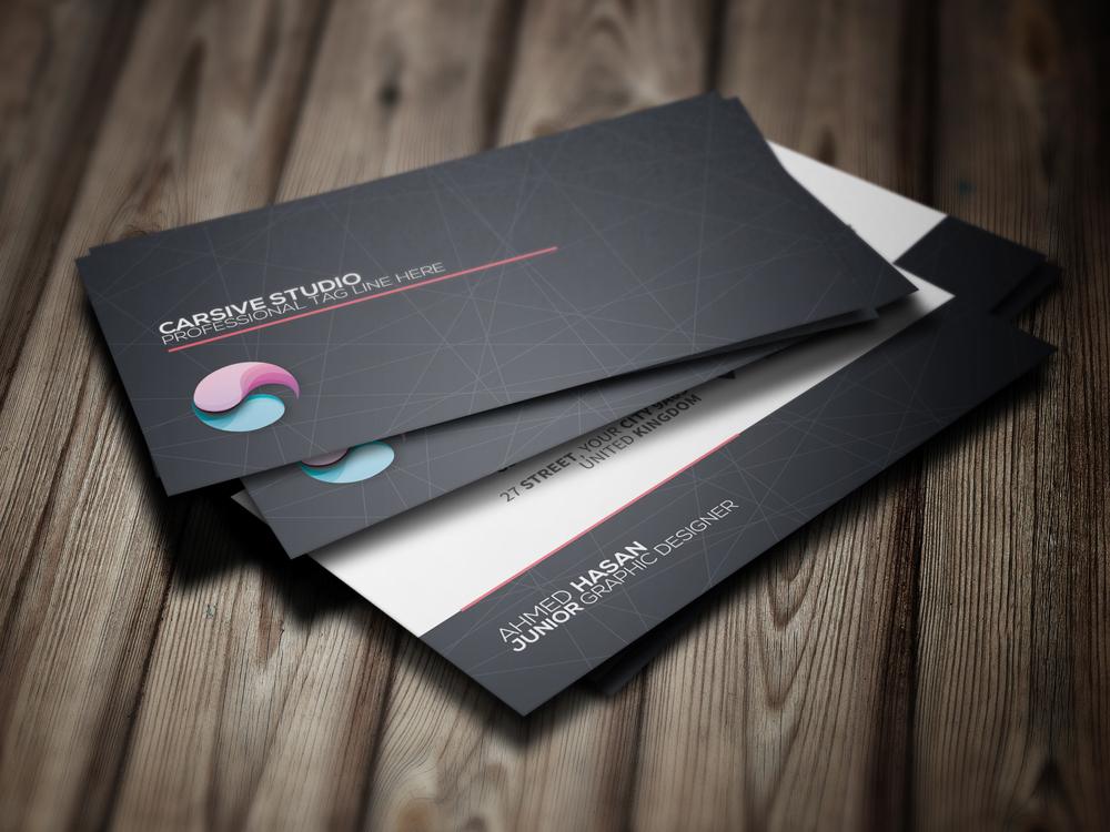 card business brand template sleek creative clean modern
