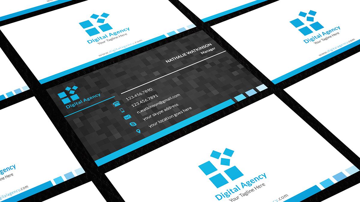 Digital agency business card on behance colourmoves