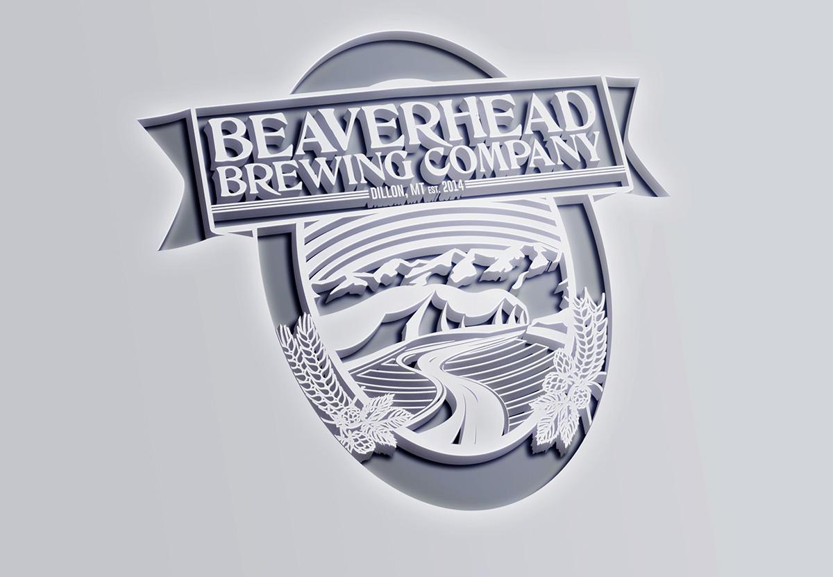 Beaverhead Brewing beer lables Signage logo design Concepting