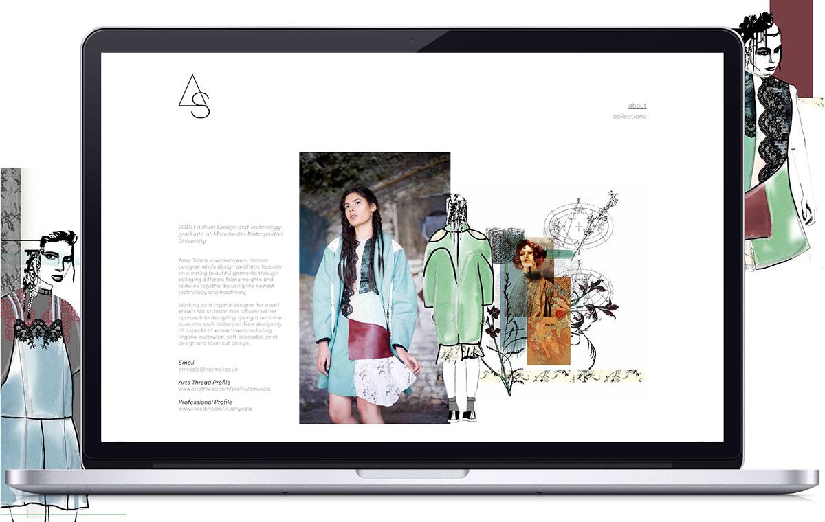 Amy Sala Womenswear Website Design On Behance