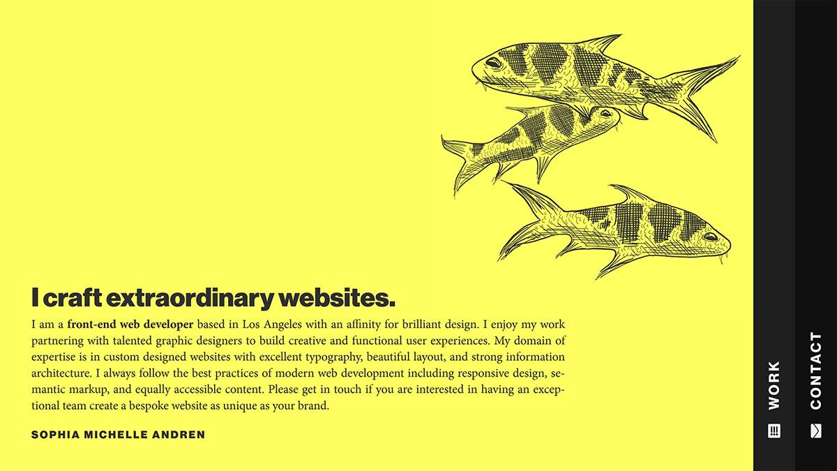 Web Design  web development  mobile design Responsive Design ui design experimental avant-garde Adobe XD craft cms portfolio