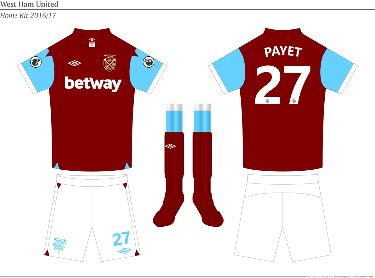 West Ham United Kit and Crest Design on Behance
