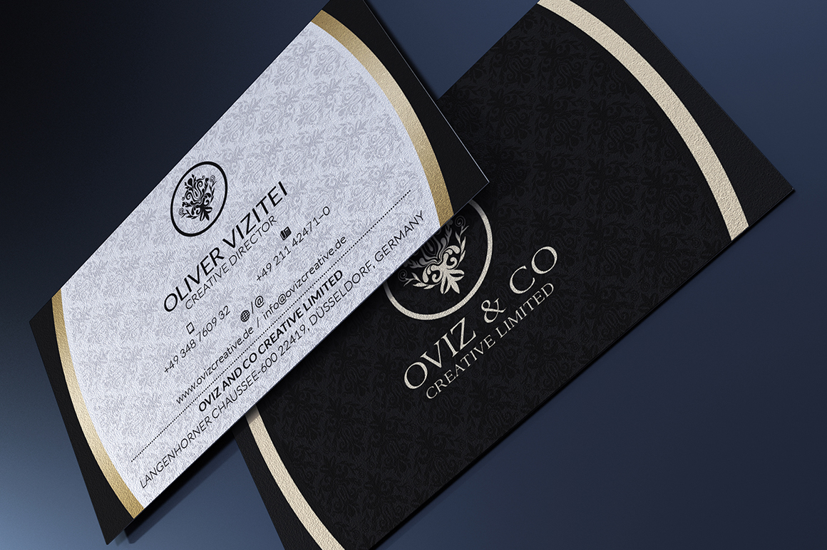 25 Gold Business Cards Bundle On Behance