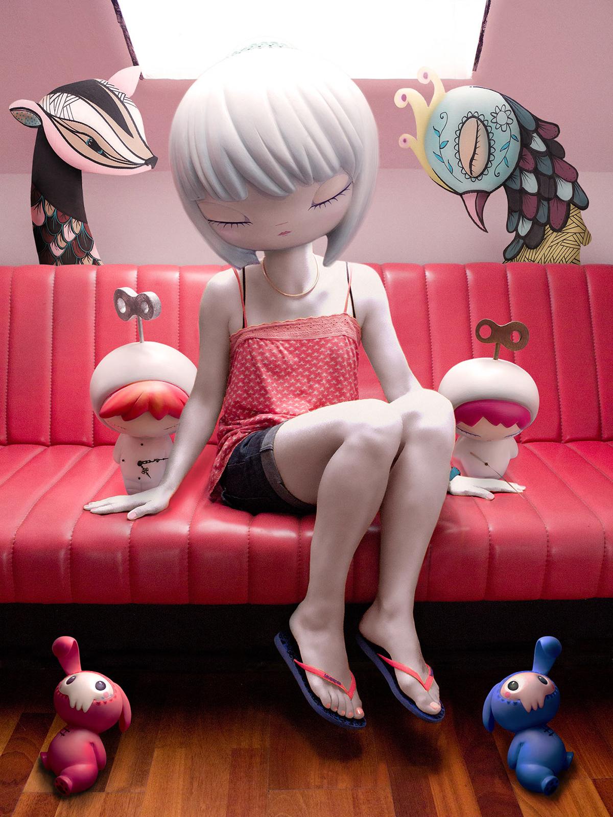 art toys Designer toys emilie steele eric althin Fine Art Dolls Horrible Adorables luke chueh nate van dyke sofubi toy designers