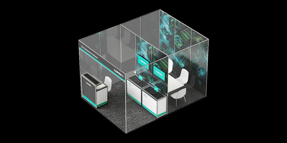 Kaspersky Interior b2b Stand 3D