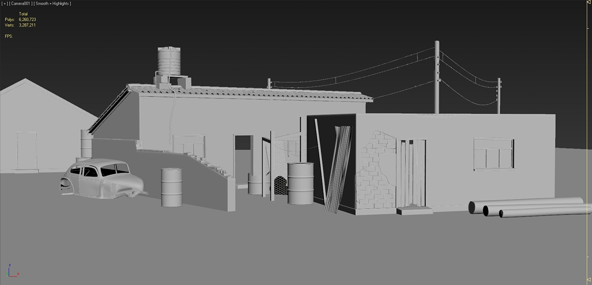 roventa alexandru ruver design Low Poly 3D 3d max Zbrush Autodesk environment game AAA