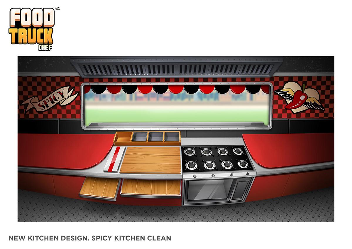 videogame chef Food truck marketing   cartoon