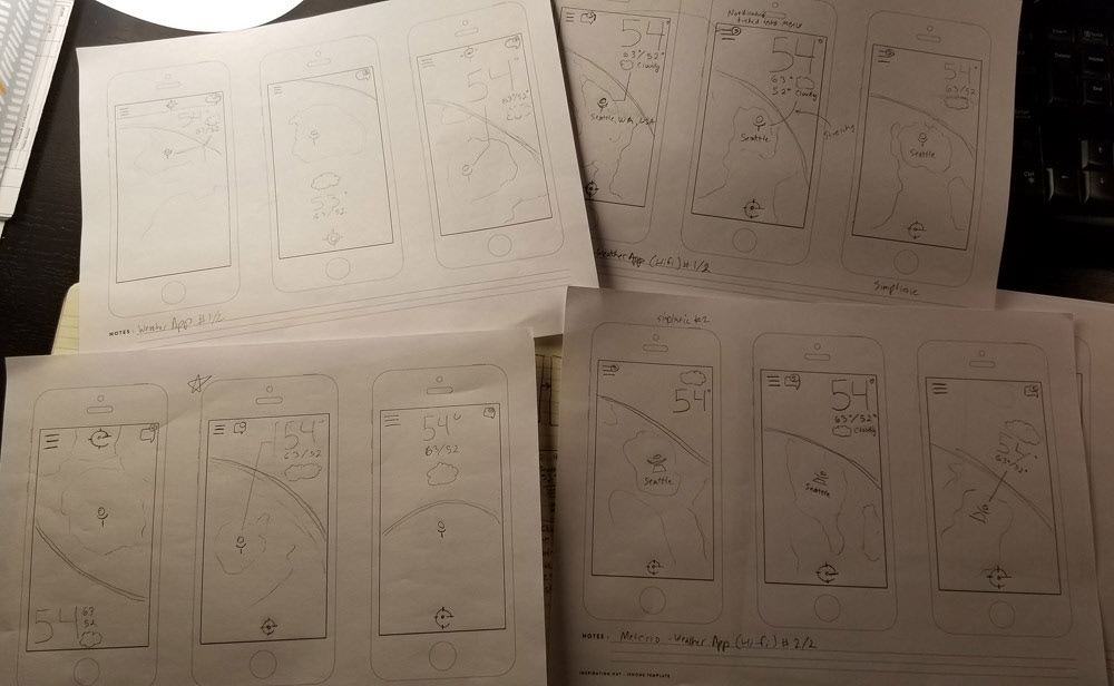 wireframes Prototypes Mobile apps Pokemon myradar weather app thumbnails flowchart content inventory Wireframe Sketches