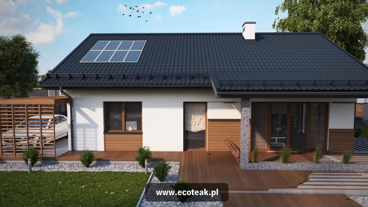 3D CGI 3d animation exterior House Animation exterior animation
