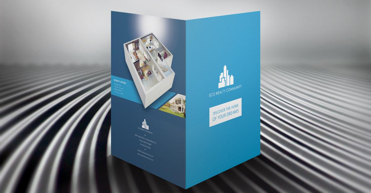 free template] real estate pocket folder & brochure on behance, Presentation templates