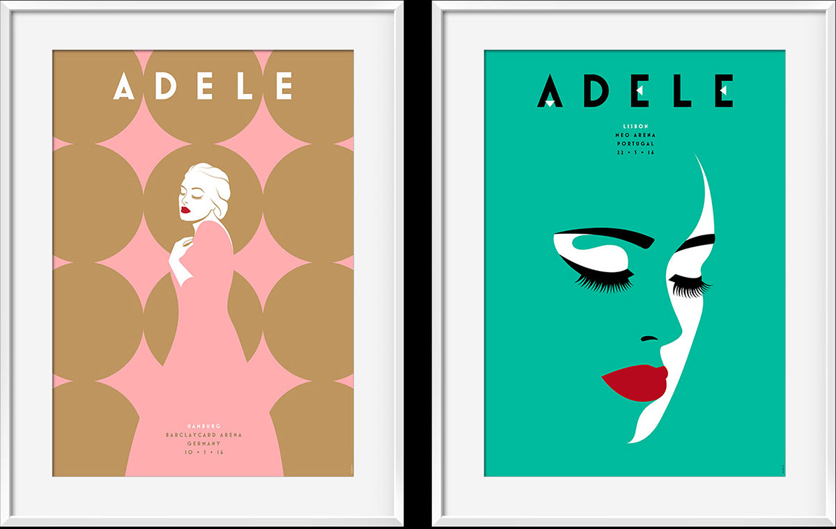 Adele London United Kingdom Concert Poster Print