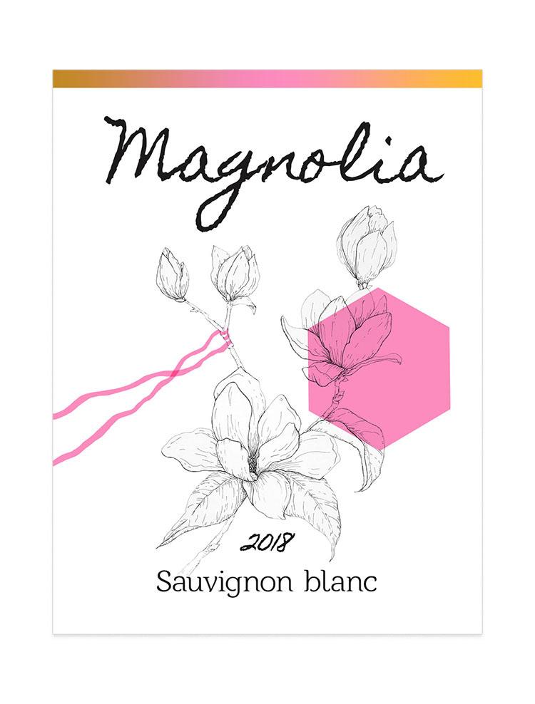 Magnolia wine label for sauvignon blanc