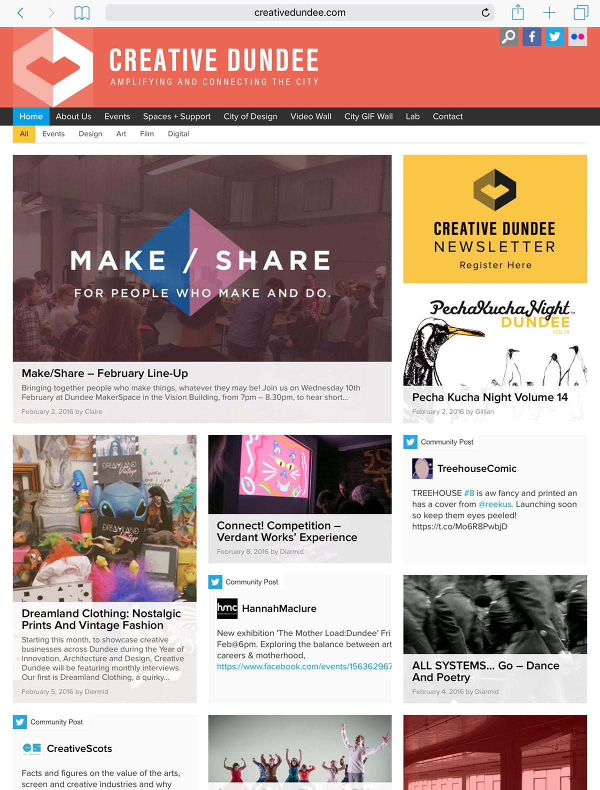 Creative Dundee Website
