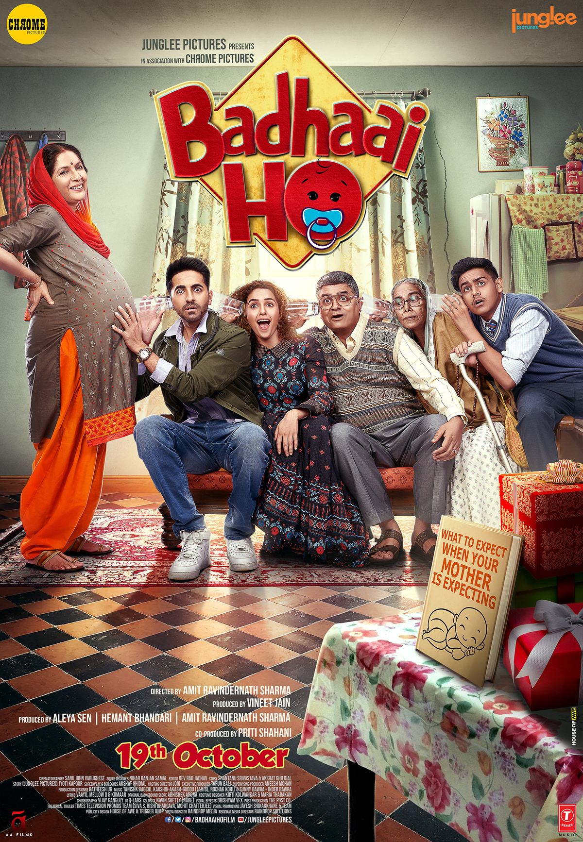 Badhaai Ho (2018) 480p + 720p + 1080p WEB-DL x264 AAC Hindi 400MB + 1.00GB + 3.75GB Download | Watch Online [GDrive]