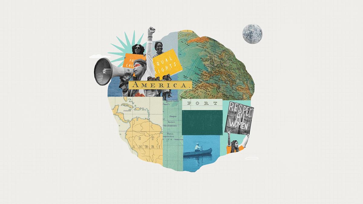Amazon collage earth feminism indigenous