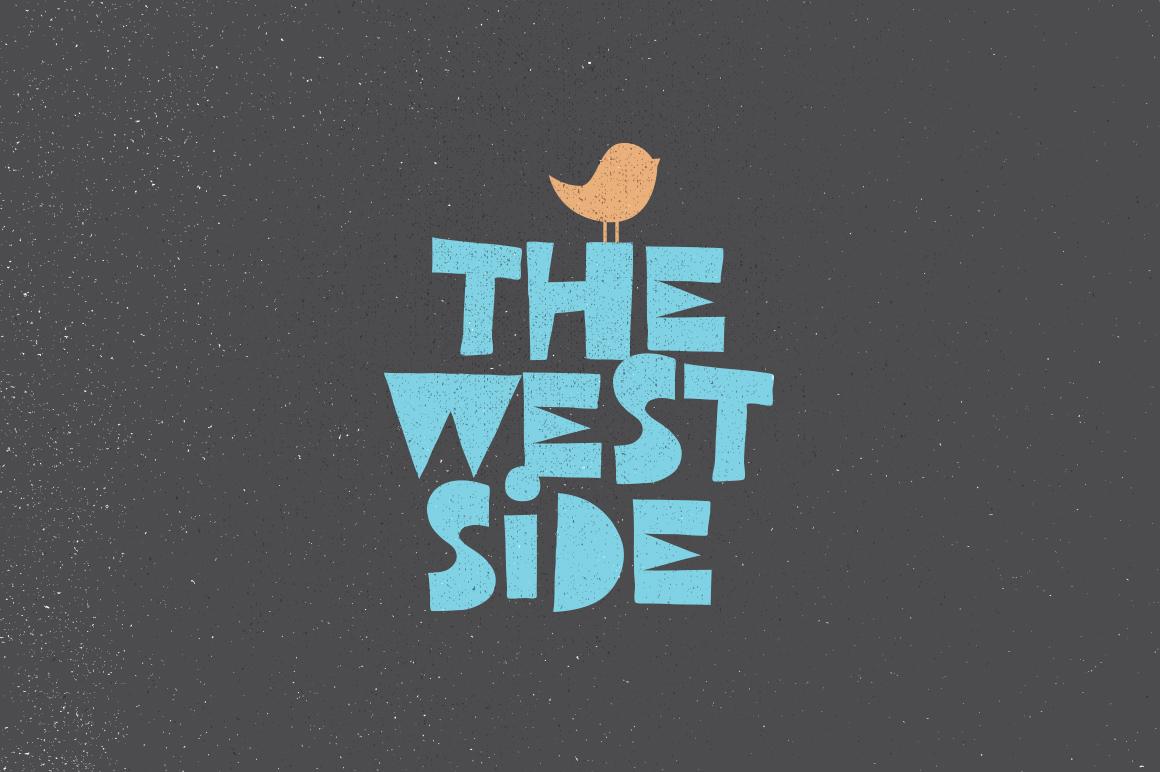 west side Free font font Typeface Retro vintage ILLUSTRATION  1980s 1990s poster