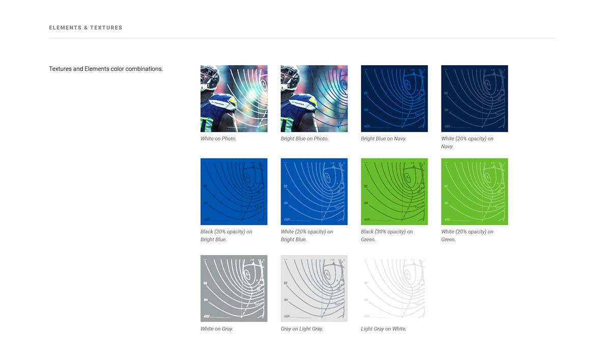 branding  design Style Guide Seattle Seahawks