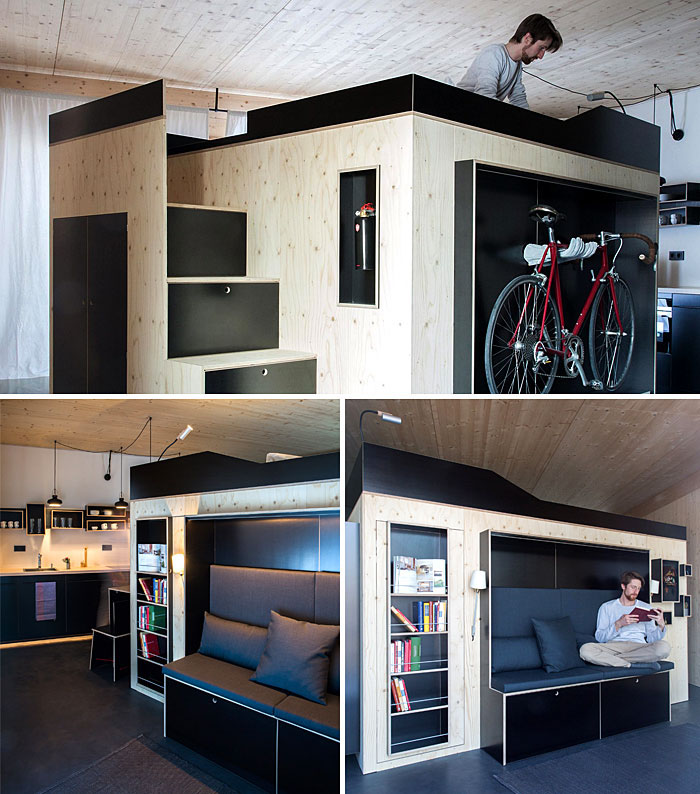 50 Clever Design Ideas For Small Studio Apartments On Behance