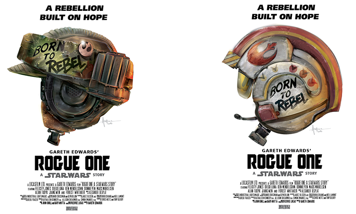 Born To Rebel Star Wars Rogue One Vector On Behance