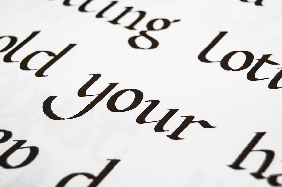 calligraphy practice letter