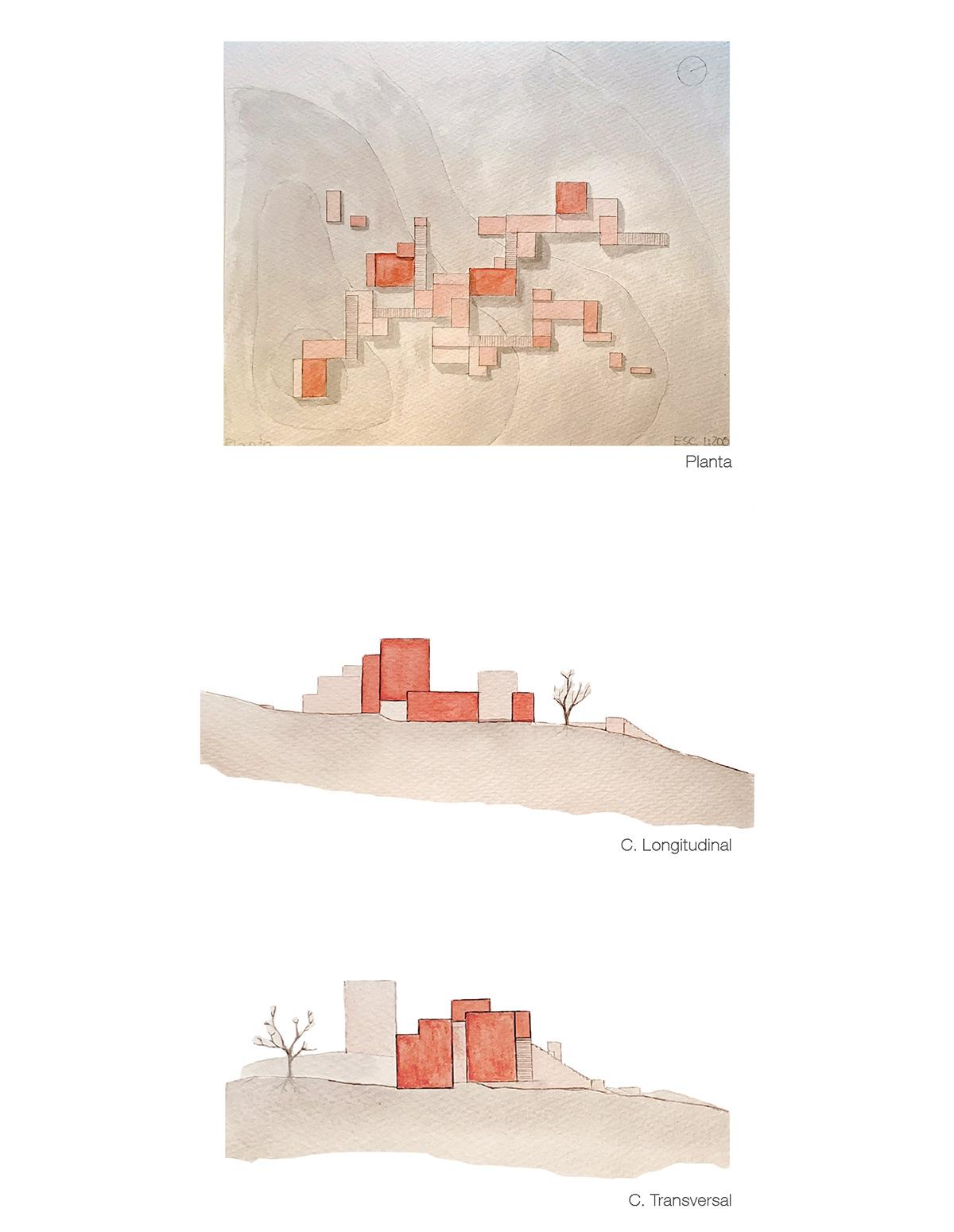 arquitectura composición modular Tallerdecomposicion dibujo espacios habitables paisaje