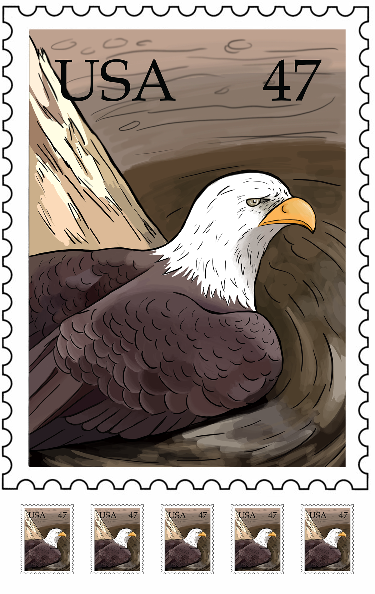 Eagle Stamp On Behance