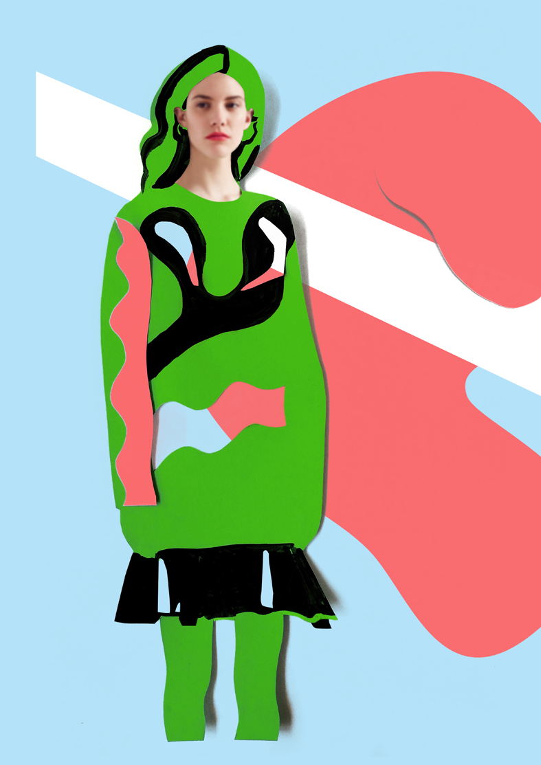 ISSA,resort,model,summer,spring,fashion illustration,Style,colours,papercut,paper,paint,cutting,clothes,dress,Collection