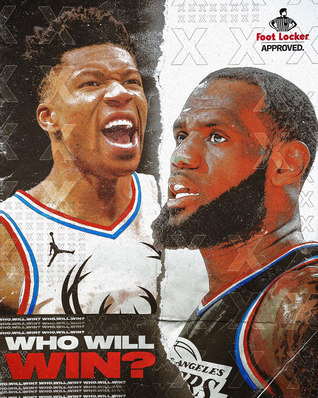b170a4b6bcb Foot Locker 2019 NBA All-Star Illustrations on Behance