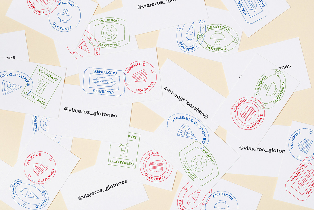 diseño branding  Logotipo barcelona viajerosglotones lacomastudio diseñografico identity icons stamp
