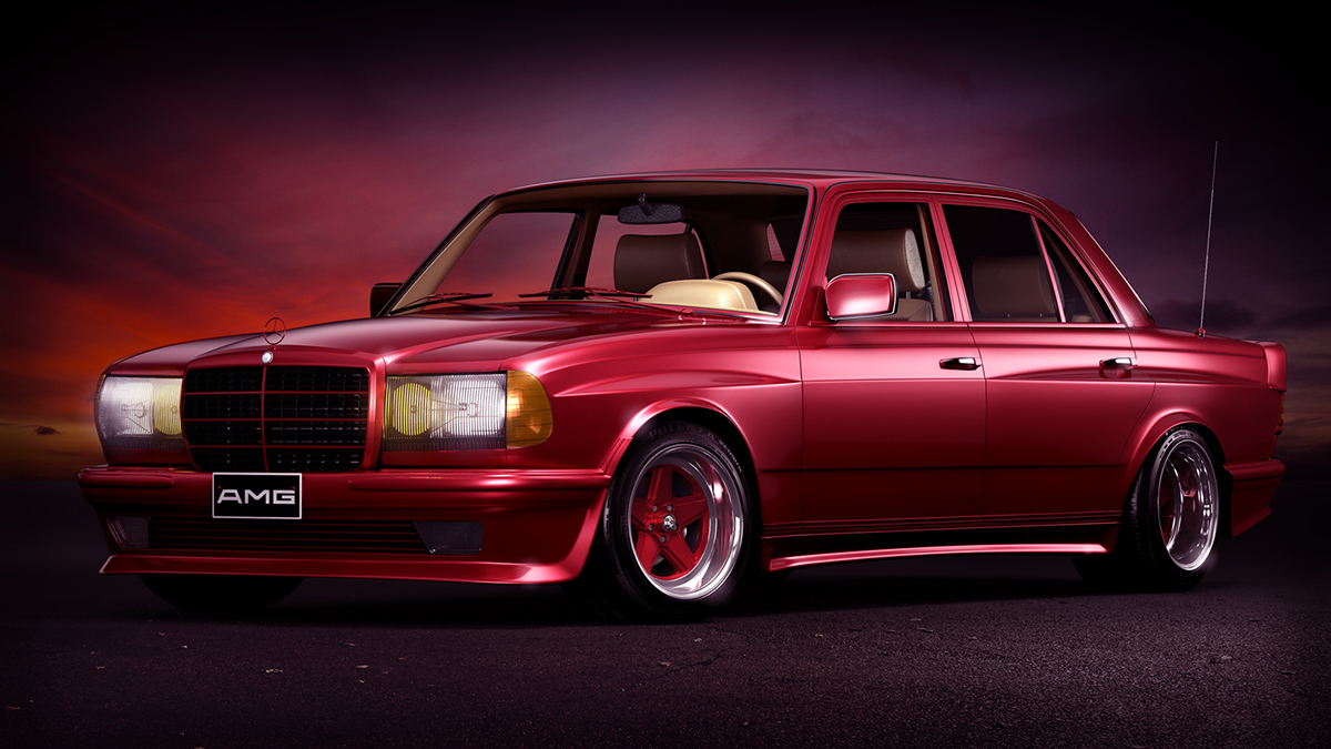 1984 Mercedes Benz W123 6 0 Amg Widebody On Behance