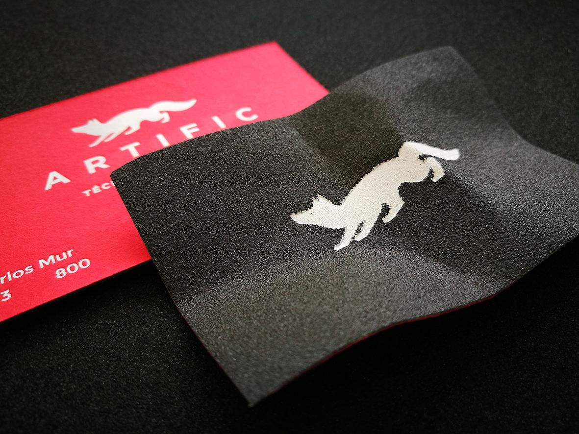 Sandpaper business cards on Behance