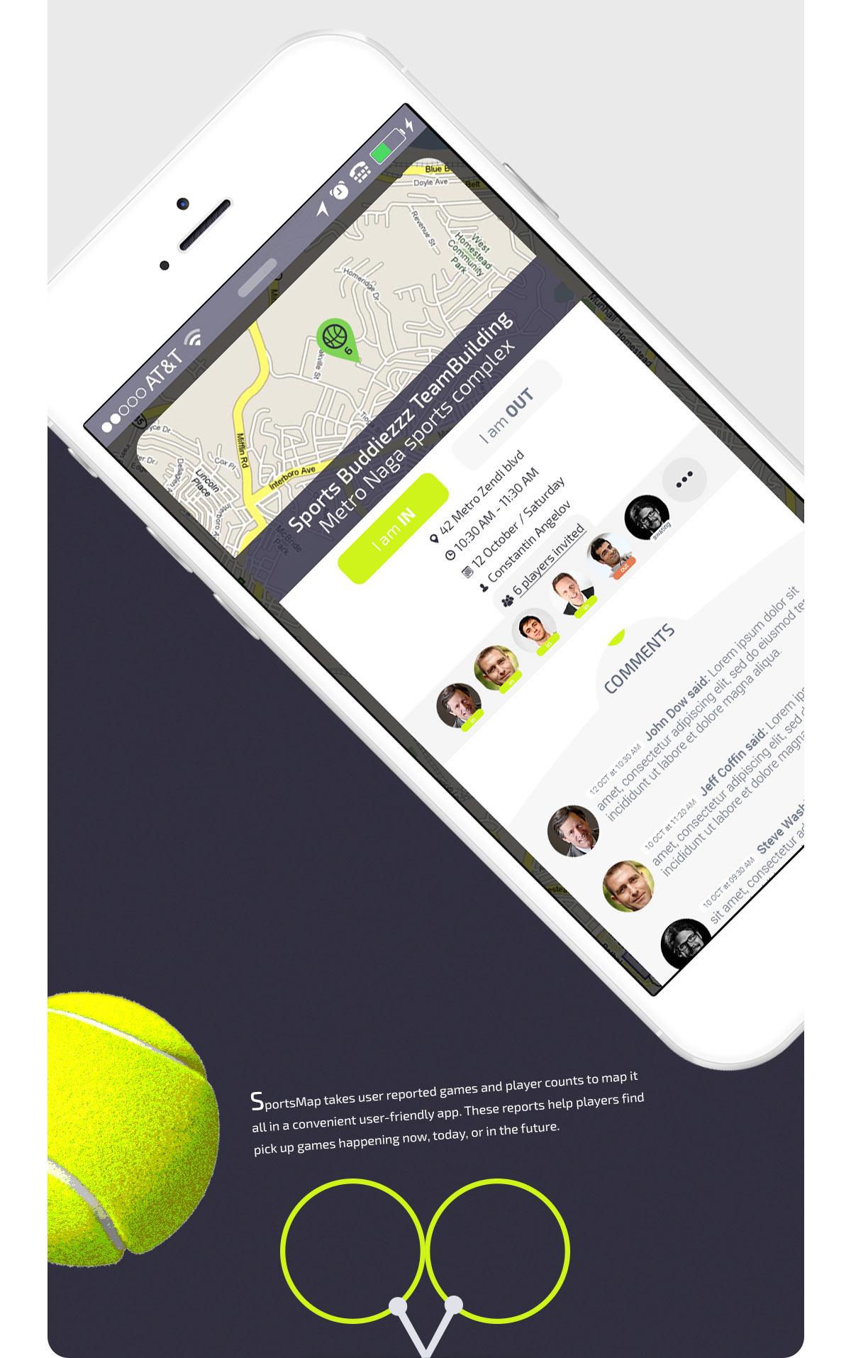 ios app UI ux sport sports fitness clean modern lemun digital Interface basketball baseball Cricket soccer