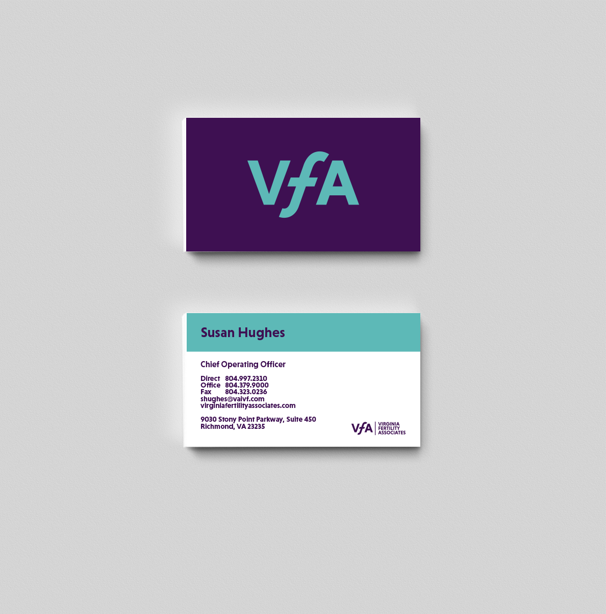 Virginia fertility associates on behance business cards reheart Images