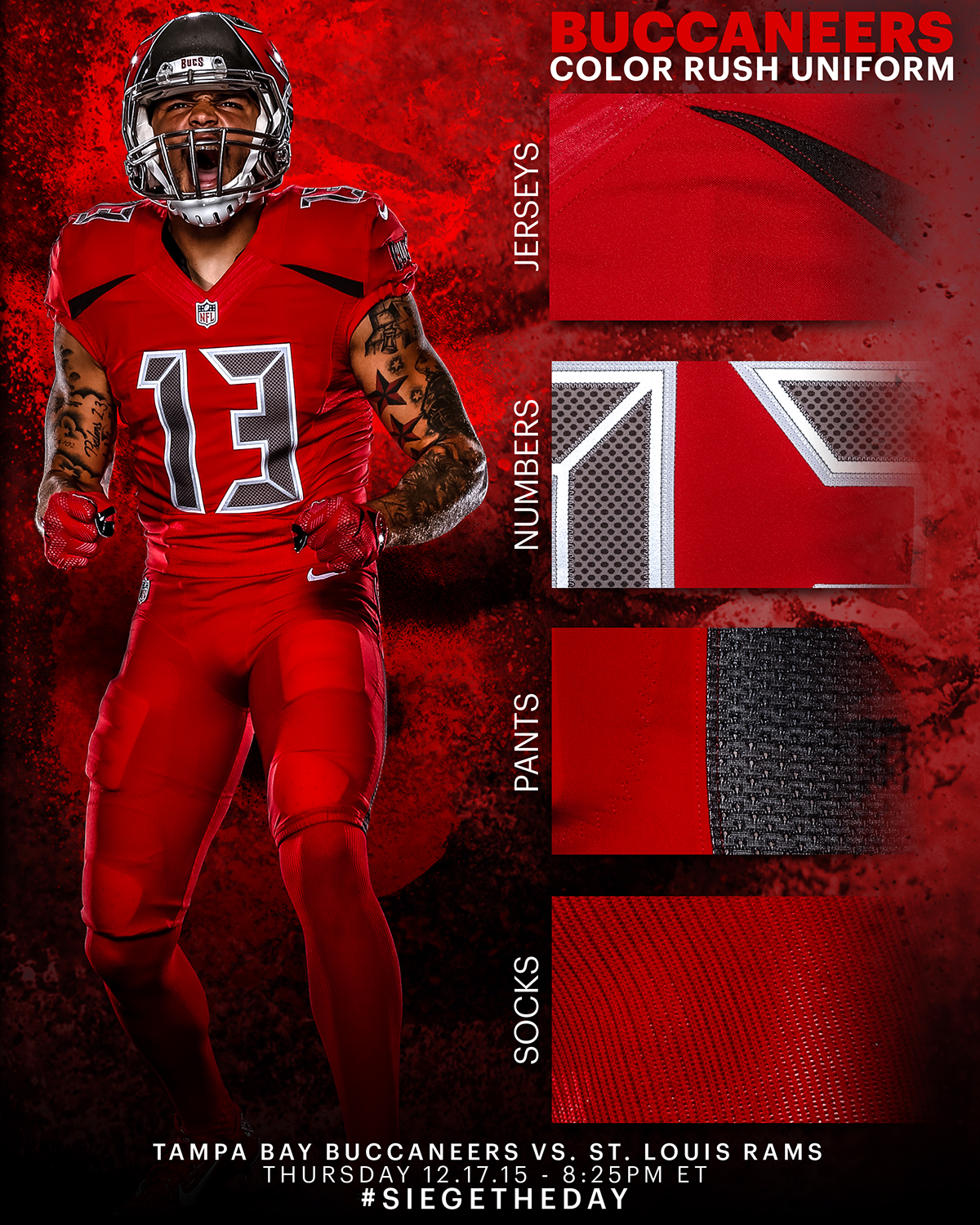promo code 3cc86 0602a Buccaneers Color Rush Uniform Graphic on Behance