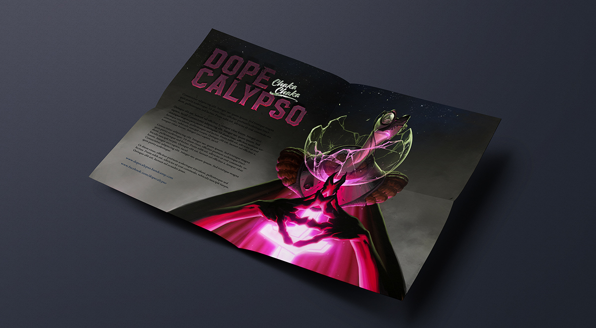 Dopecalypso cover vinyl ILLUSTRATION  chakachaka Album graphic graphic design  print sleeve
