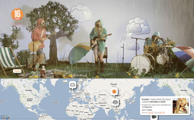 Lissie - Weather - interactive music video