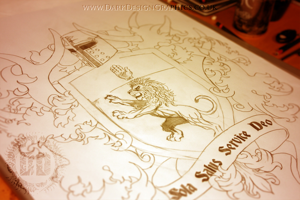 Creating A Custom Coat Of Arms Tattoo Design on Behance