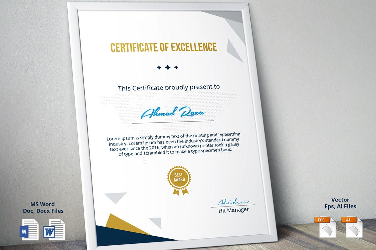 Psd Certificate Template On Pantone Canvas Gallery