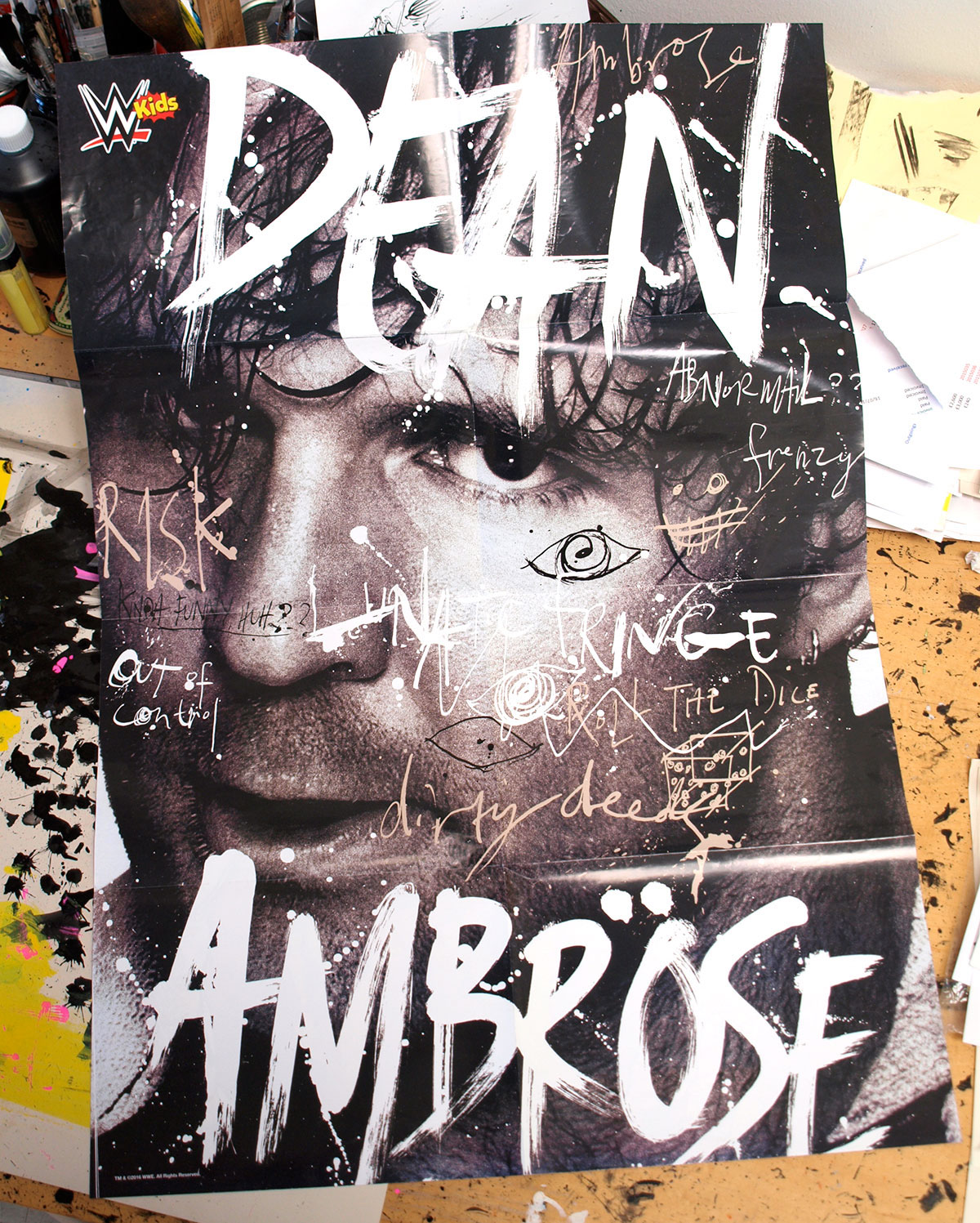 wwe dean ambrose poster design on behance