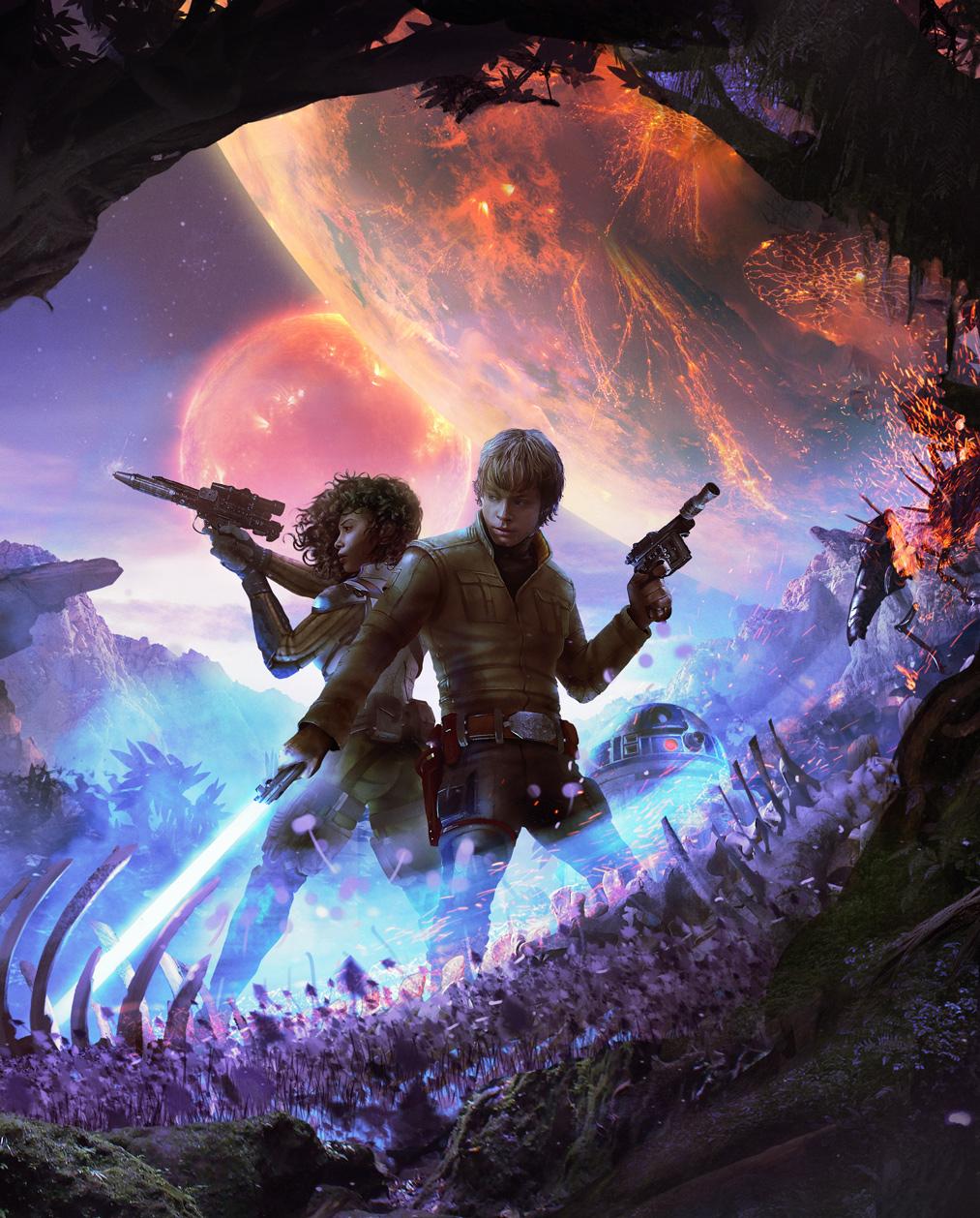 star wars Heir to the jedi book cover luke skywalker Nakari Kelen lucas Lucasfilm Editora Aleph
