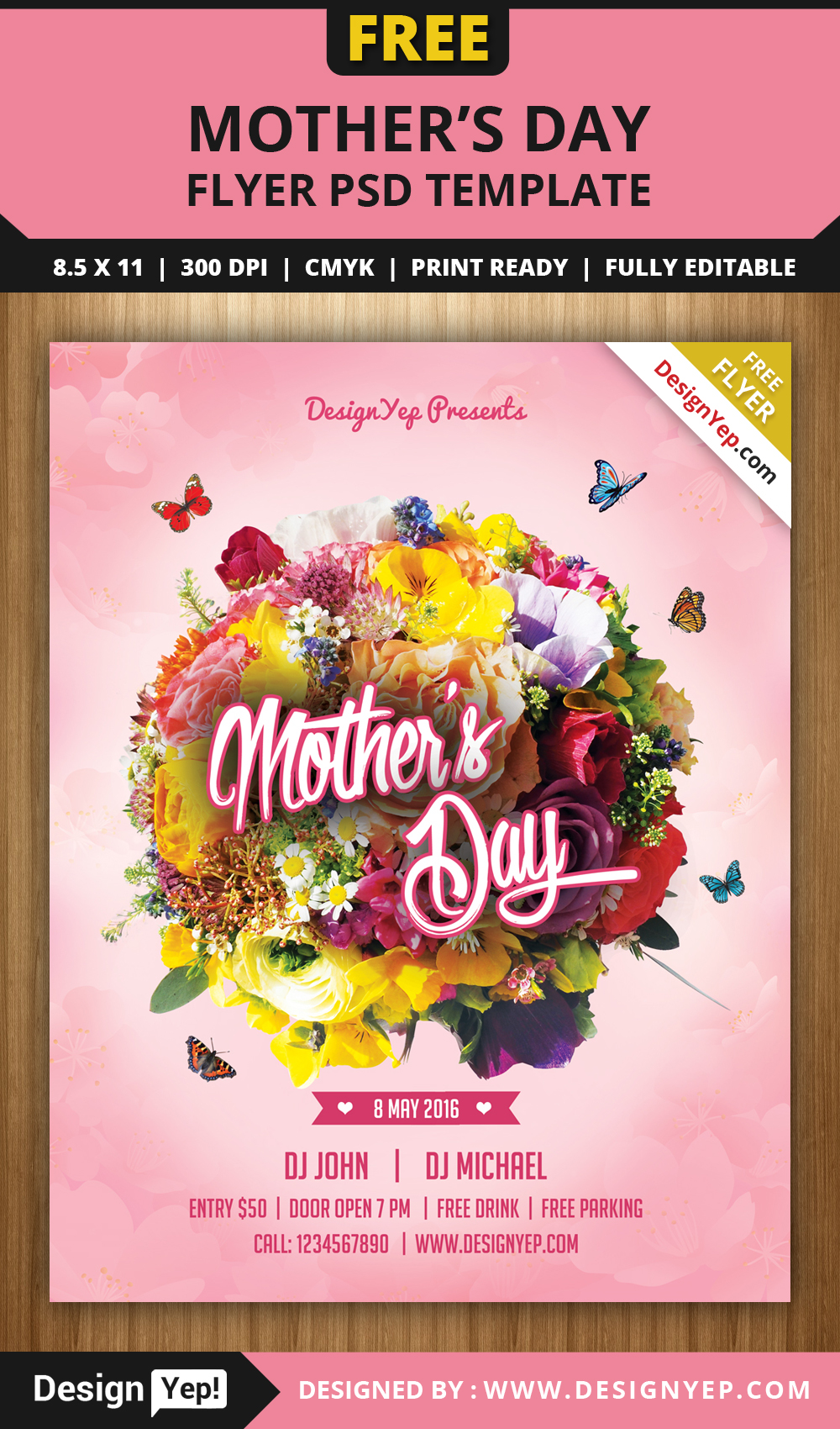 Happy Mothers Day Flyer Psd Template On Behance