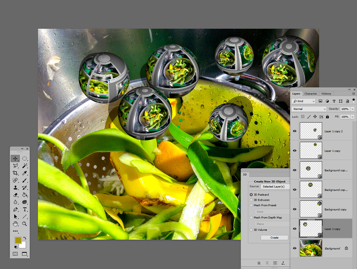 Photoshop Editing 3D digital photography  cooking