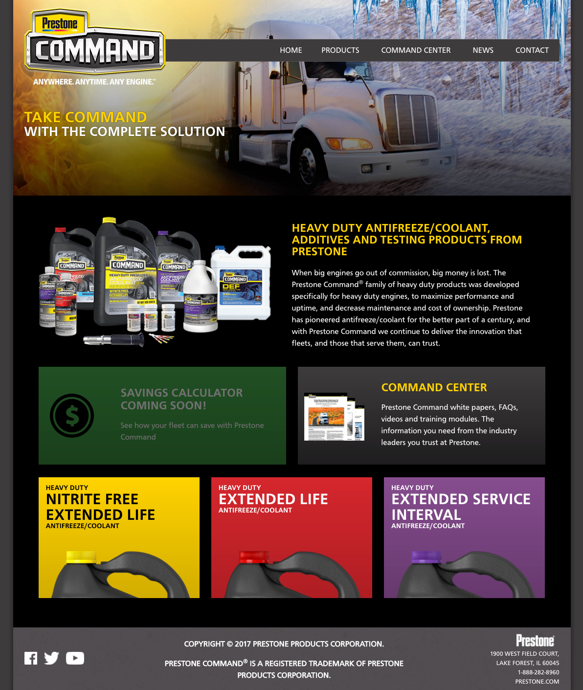 Prestone Command Digital Imagery And Branding On Behance Engine Coolant