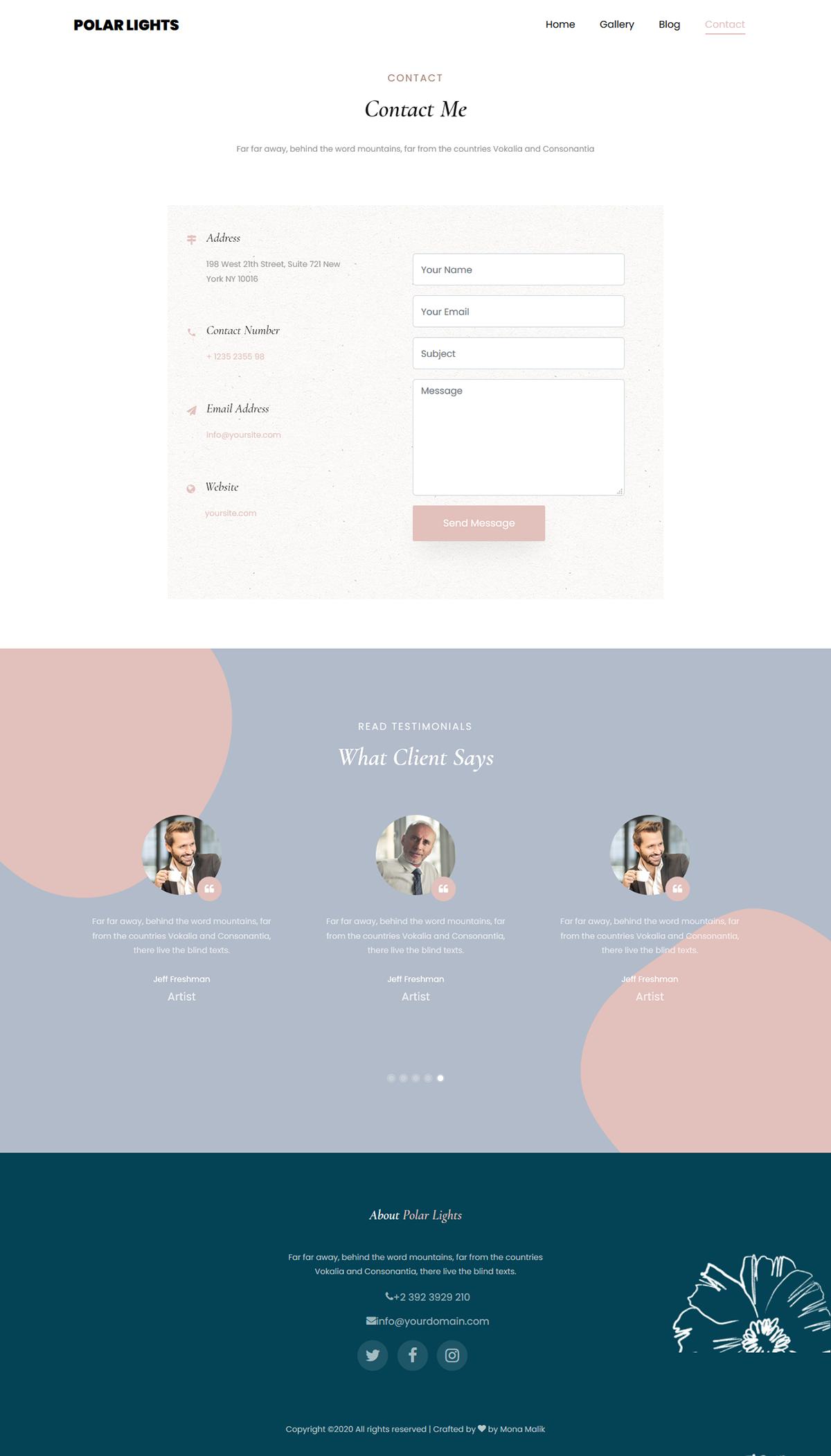 bootstrap monawebdeveloper polar lights Responsive Web Design  Website
