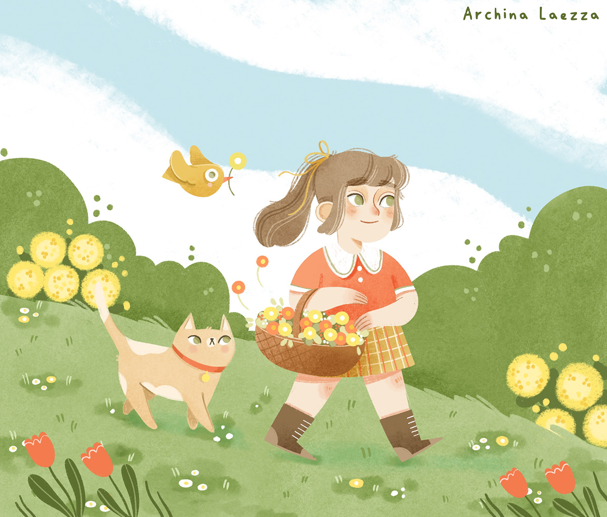 art ChildrenIllustration cute art ILLUSTRATION  illustration jeunesse illustrazione illustrazione per bambini summer art