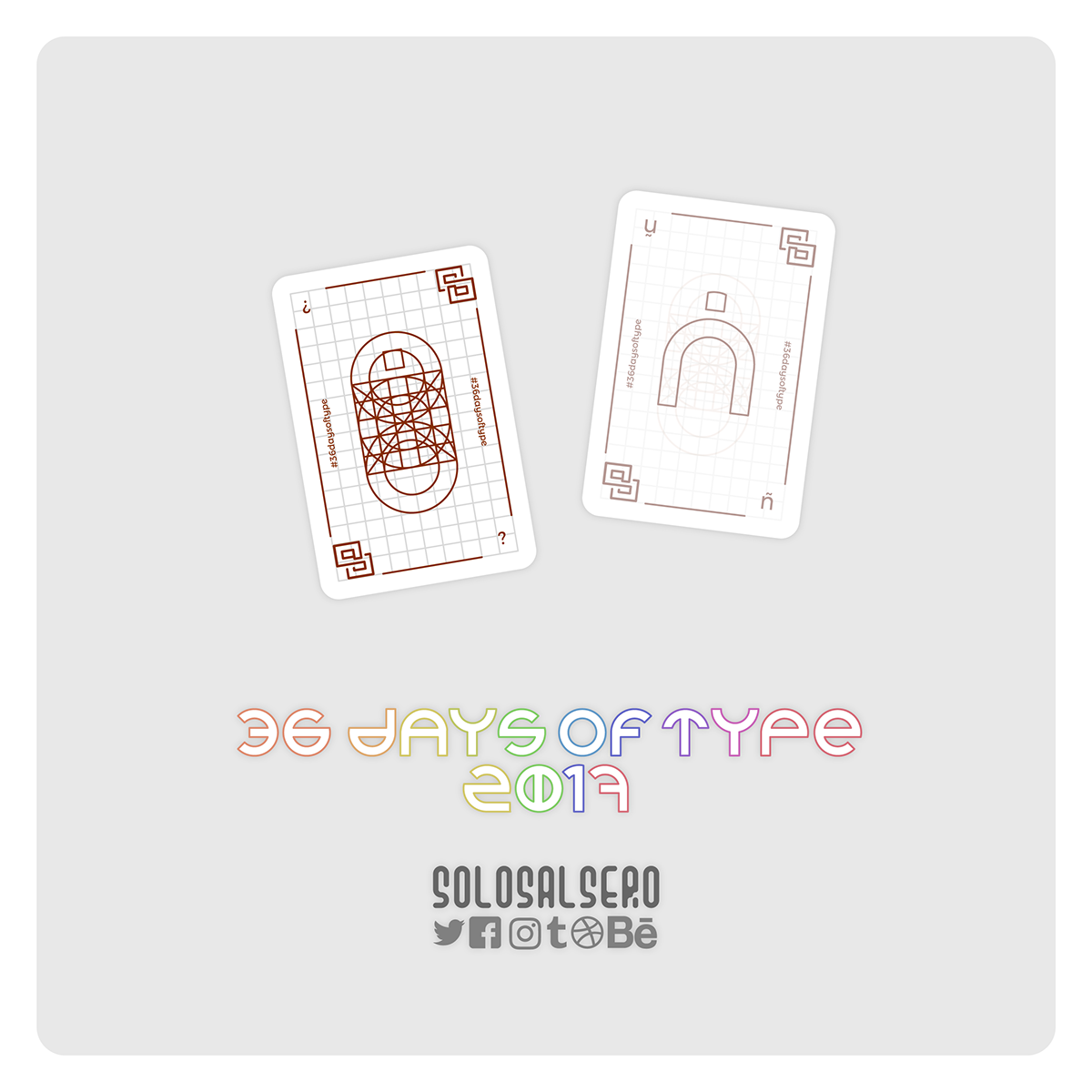solosalsero cartas Playing Cards letras letters números numbers tipografia typo typography