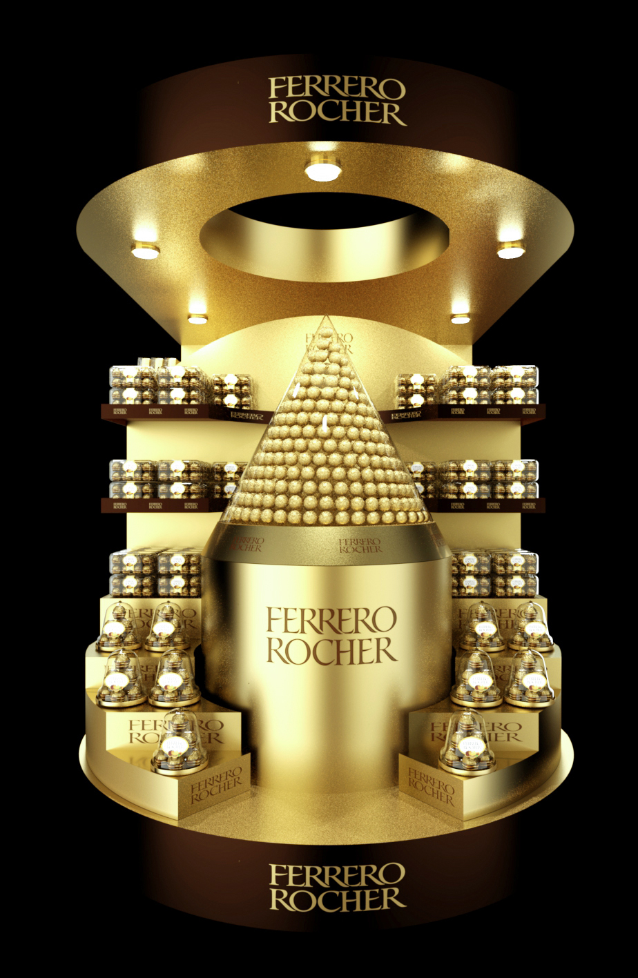Exhibition Stand Design Moscow : Ferrero rocher pallet posm on behance